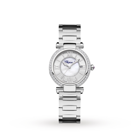 Chopard Imperiale 29mm Automatic Stainless Steel Diamond and Amethyst Ladies Watch