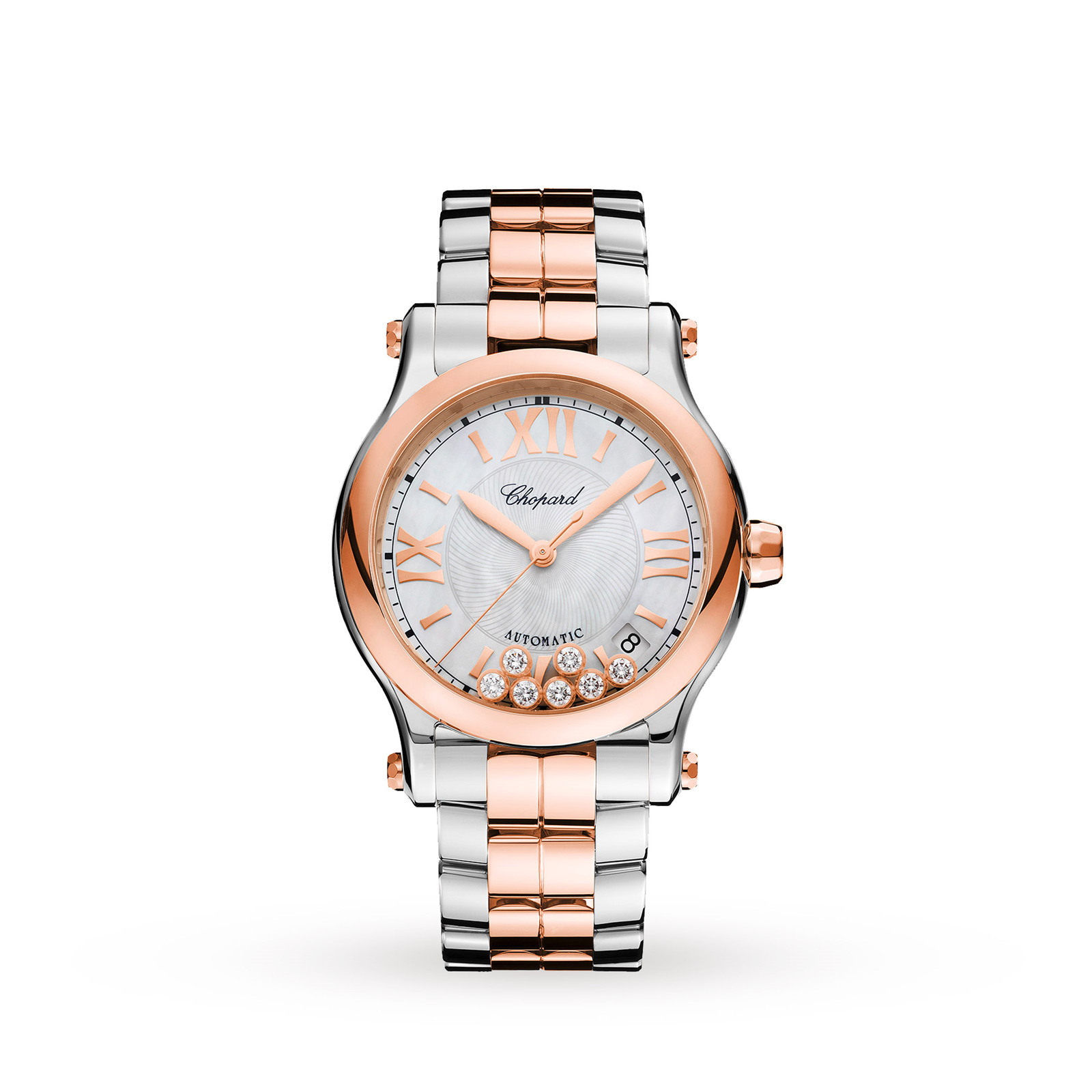 c043487687 Chopard Happy Sport 36mm Automatic 18ct Rose Gold Stainless Steel ...