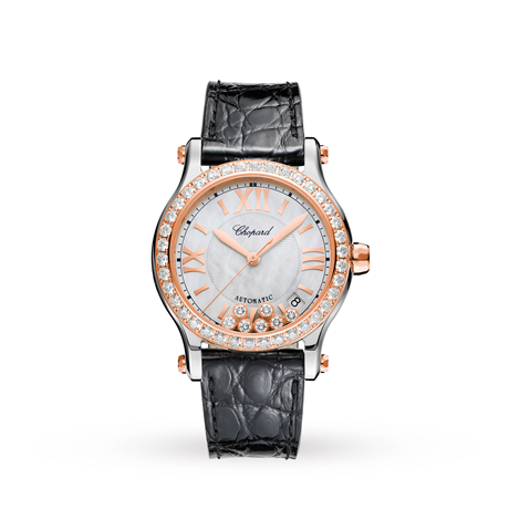 Chopard Happy Sport 36mm Automatic 18ct Rose Gold Stainless Steel and Diamond Ladies Watch