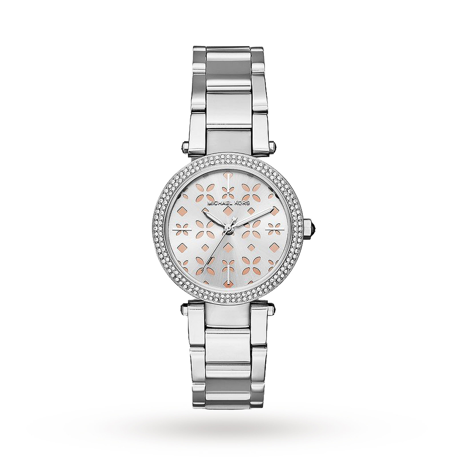Michael Kors Mini Parker Stainless-Steel Three-Hand Watch