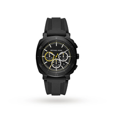 Michael Kors Bax Black IP and Black Silicone Chronograph Watch