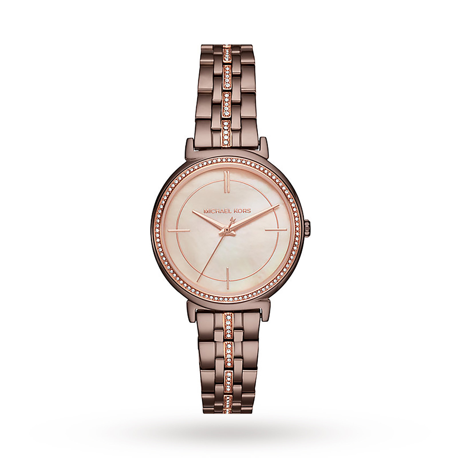 Michael Kors Rose Gold-Tone Three-Hand Watch