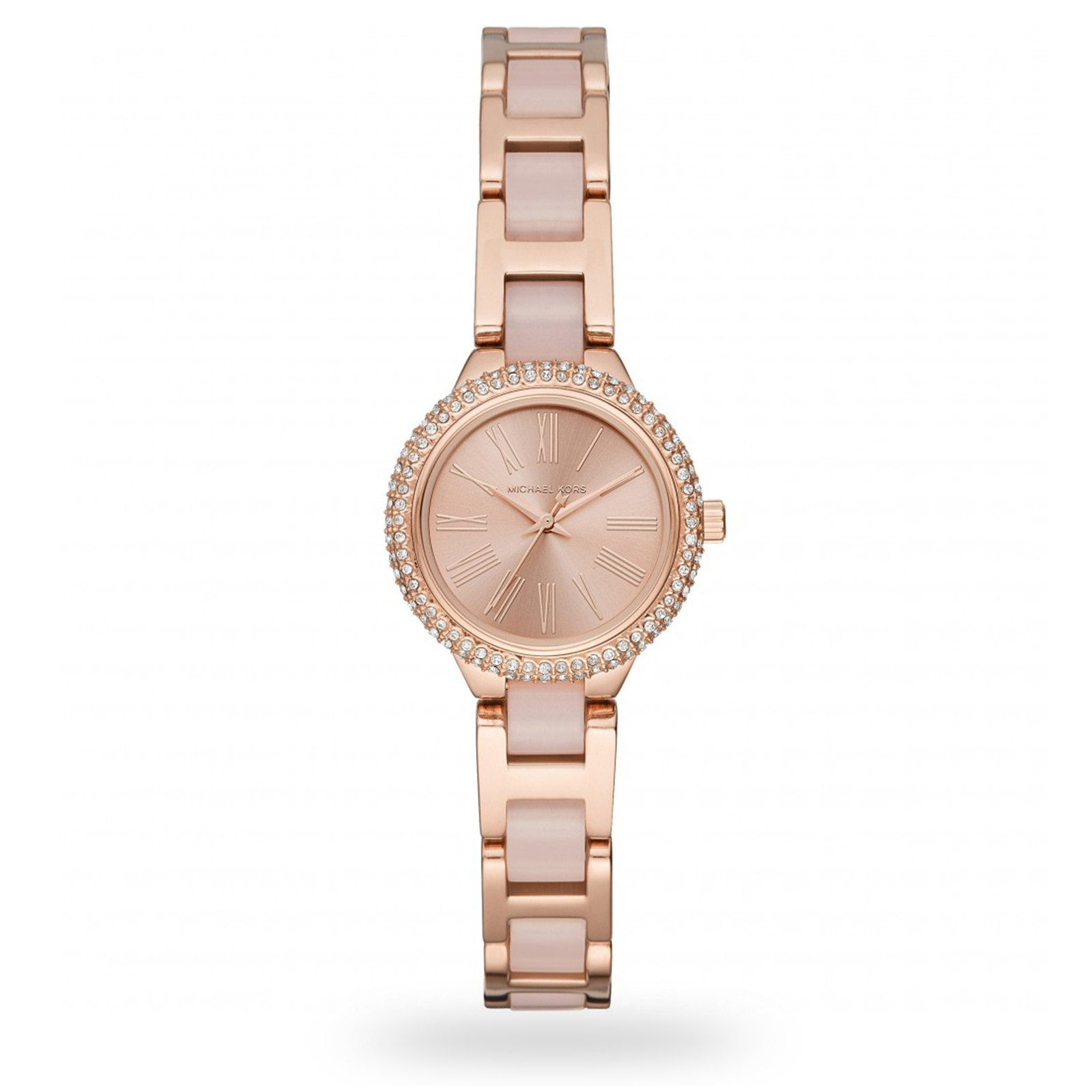 Michael Kors Rose Gold-Tone and Blush Acetate Watch