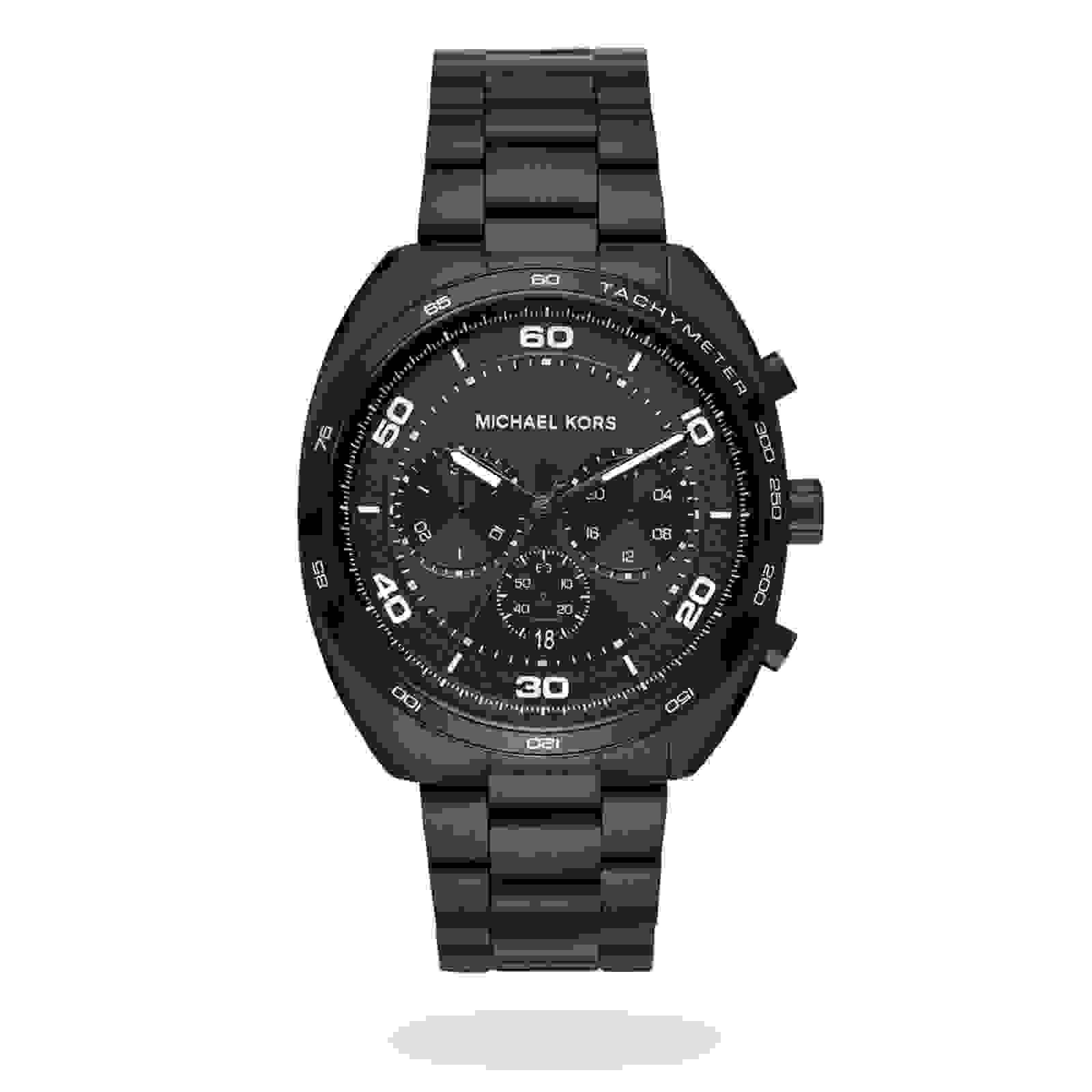 Michael Kors Black IP Chronograph Mens Watch