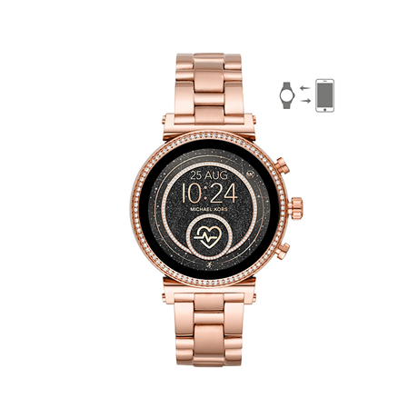 Michael Kors Access Sofie Heart Rate Rose Gold Tone Ladies Smartwatch