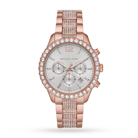 Michael Kors Layton Rose Gold Tone Ladies Watch MK6791
