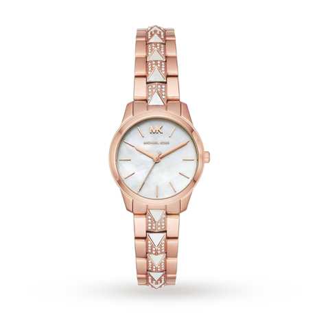 Michael Kors Runway Rose Gold Mother of Pearl Tone Ladies Watch MK6674