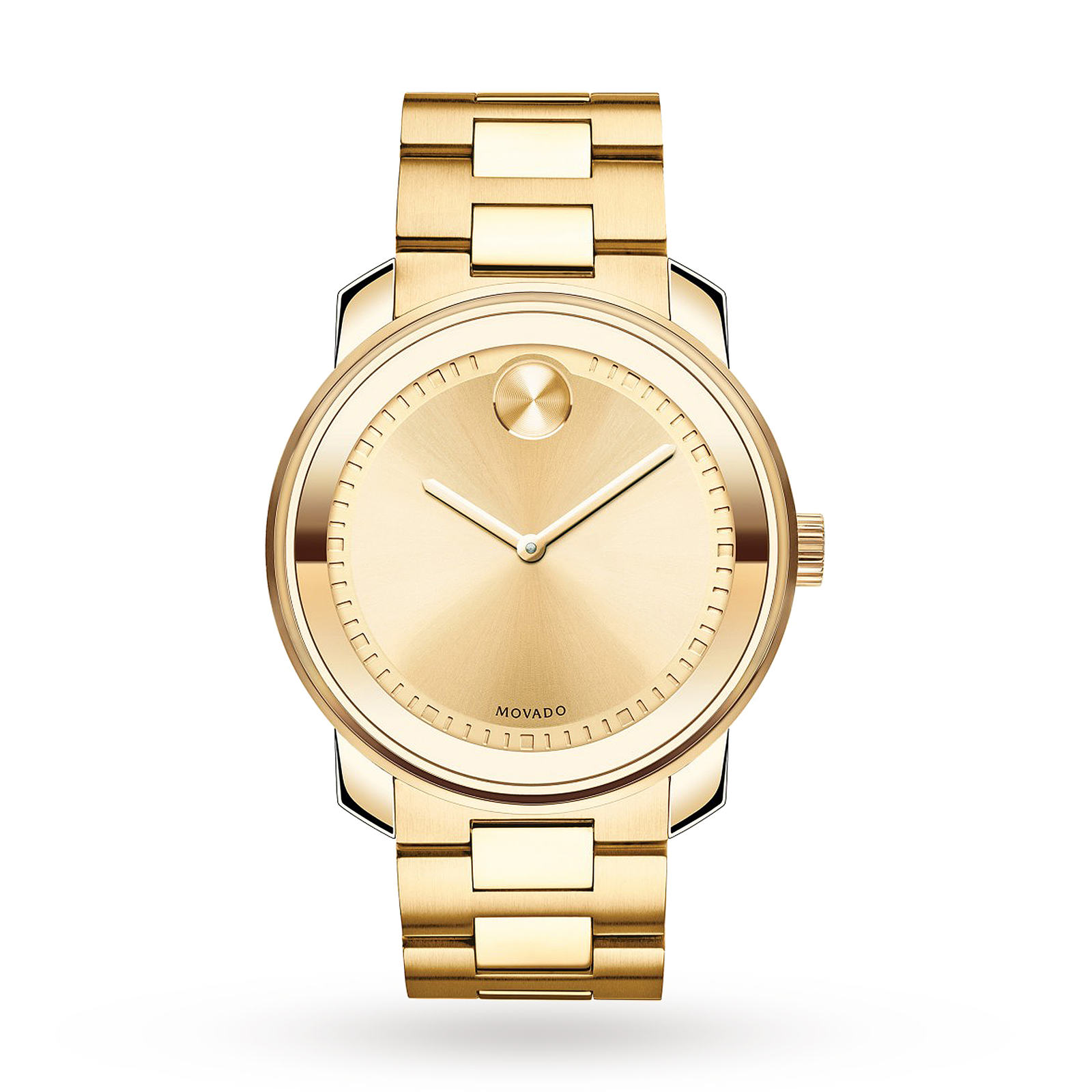 Movado Bold Champagne Dial Gold-tone Mens Watch