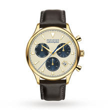 Mens Movado Heritage Chronograph Watch 3650007