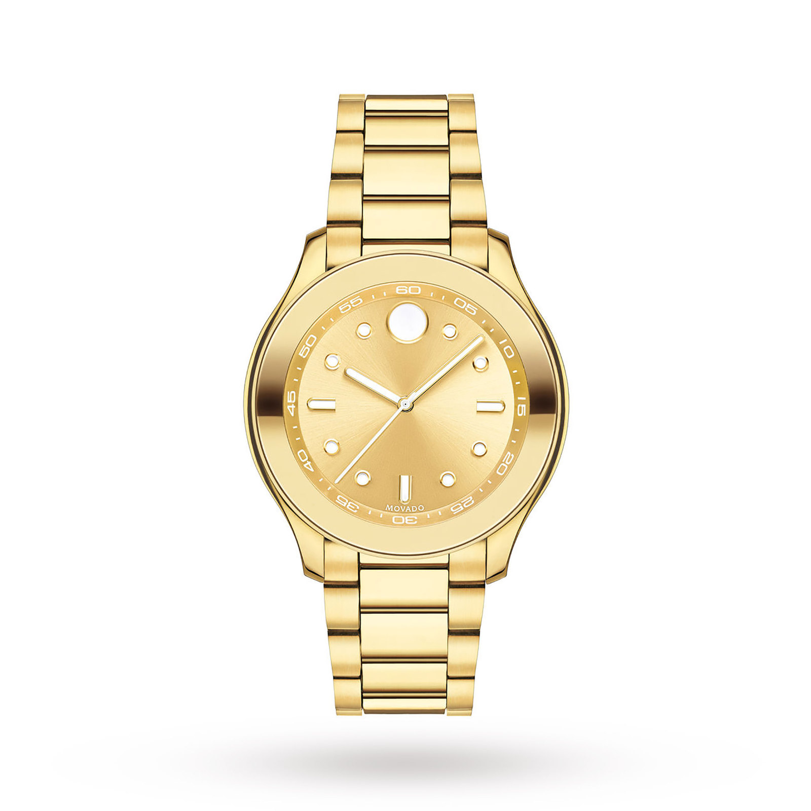 Movado Bold Yellow Gold IP Stainless Steel Ladies Watch