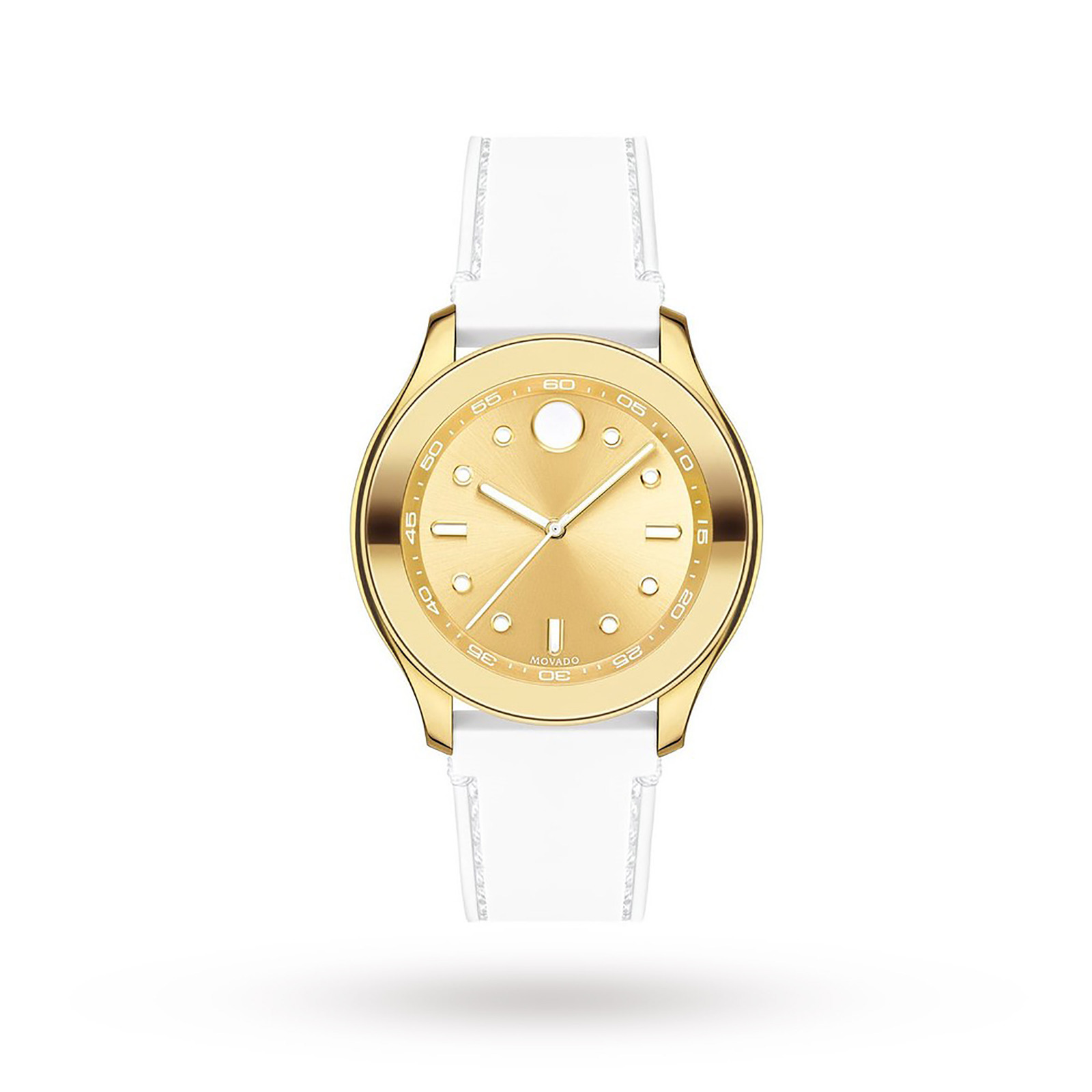 Movado Bold Gold-Tone Dial Silicone Ladies Watch