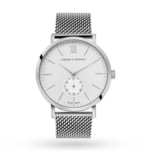 Larsson & Jennings Lugano 40mm Mechanical Exclusive, Unisex Silver Mesh Watch - Exclusive