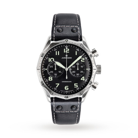 Junghans Mens Meister Pilot Chronograph Watch