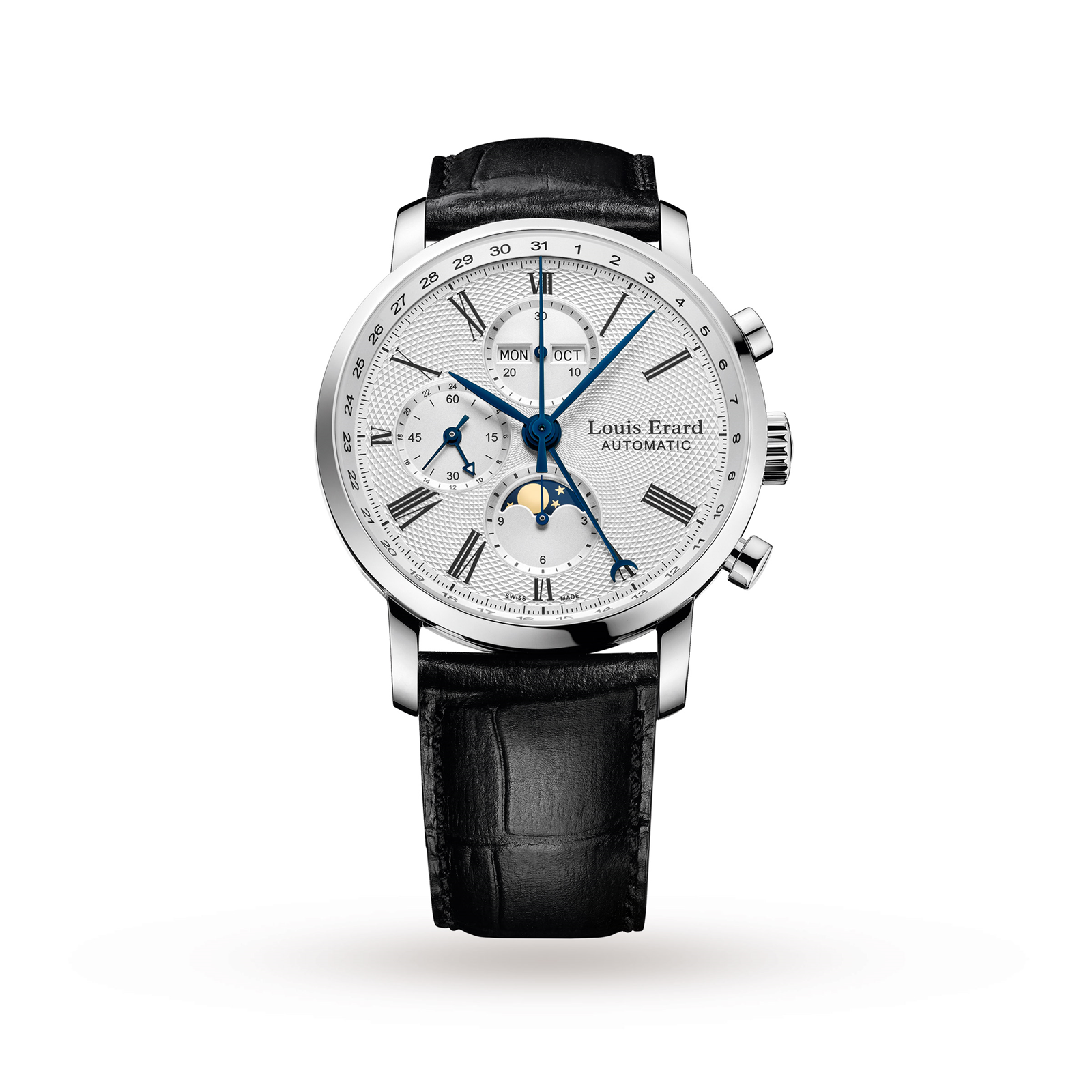 Louis Erard Excellence Moonphase Automatic Chrono Mens Watch
