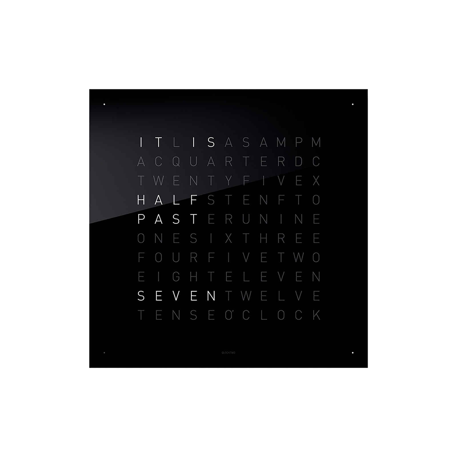 QLOCKTWO Classic Acrylic Clock - Black Ice Tea