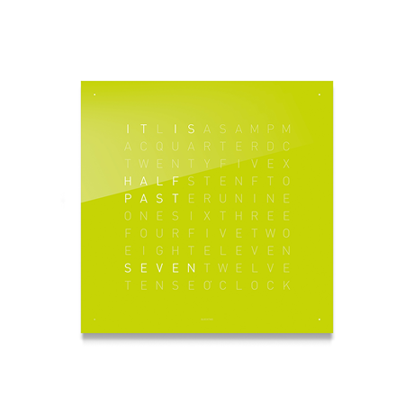 QLOCKTWO Classic Acrylic Clock - Lime Juice