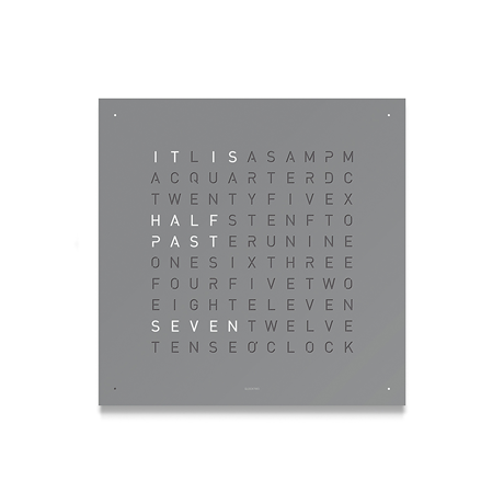 QLOCKTWO Classic Steel Powder Coated Clock - Grey Pepper
