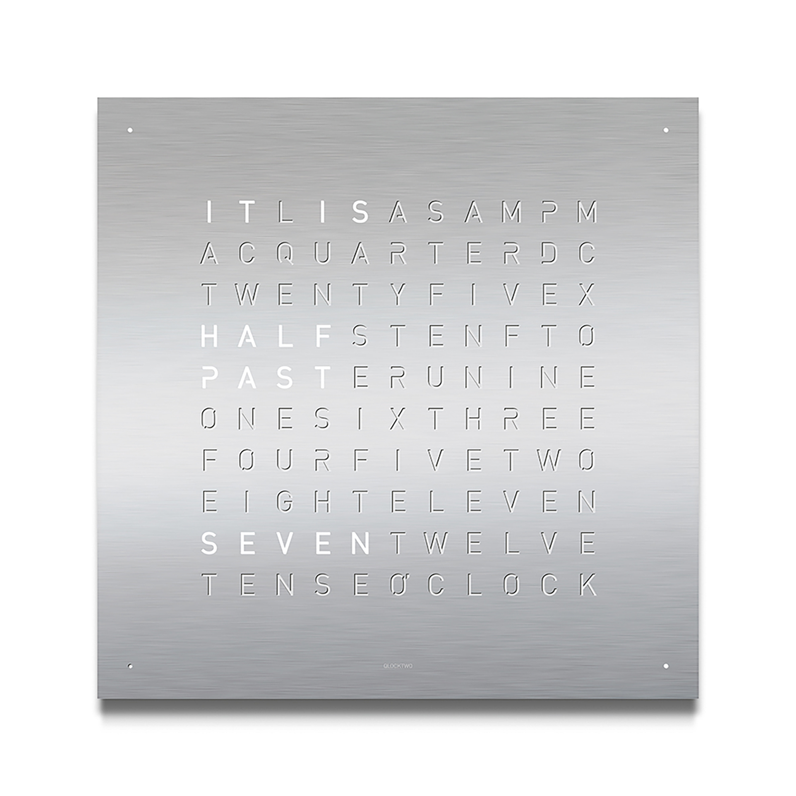 QLOCKTWO Classic Stainless Steel Clock