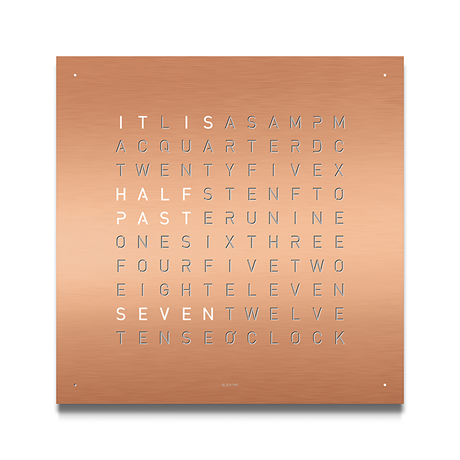 QLOCKTWO Classic Stainless Steel Clock - Copper