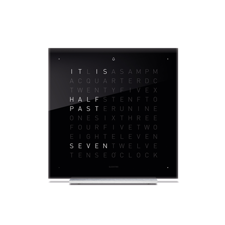 QLOCKTWO Touch Acrylic Table Clock - Black Ice Tea