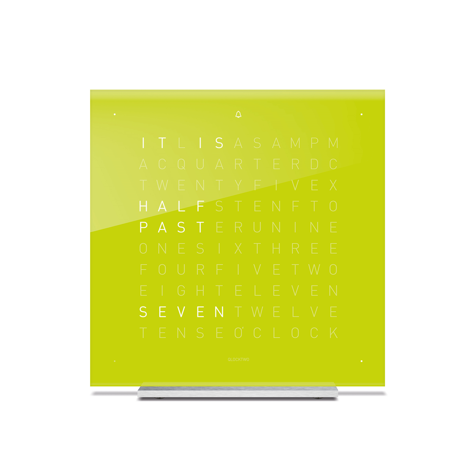 QLOCKTWO Touch Acrylic Table Clock - Lime Juice