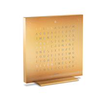 QLOCKTWO Touch Metal Table Clock - Golden Legend