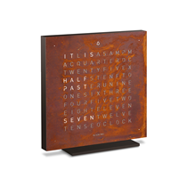 QLOCKTWO Touch Metal Table Clock - Rust