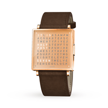 QLOCKTWO 35mm Copper Wristwatch