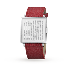 QLOCKTWO 35mm Pure White Red Wristwatch
