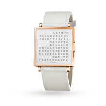 QLOCKTWO 35mm Rose White Wristwatch