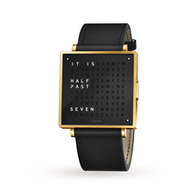 QLOCKTWO 39mm Gold Black Wristwatch