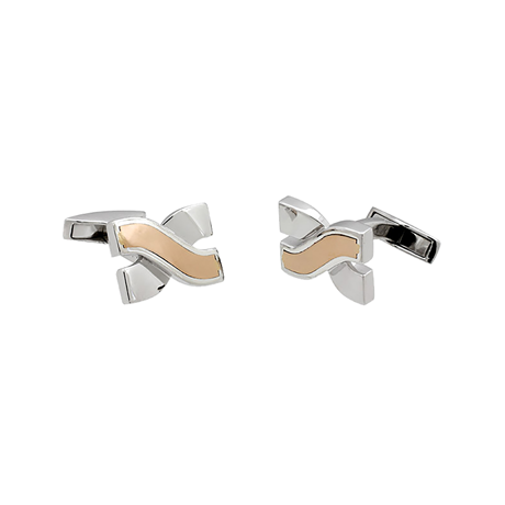 Damiani Baci 18ct Rose Gold and Silver Cufflinks