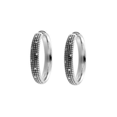 Damiani Metropolitan Dream 18ct White Gold 0.12cttw Diamond Earrings