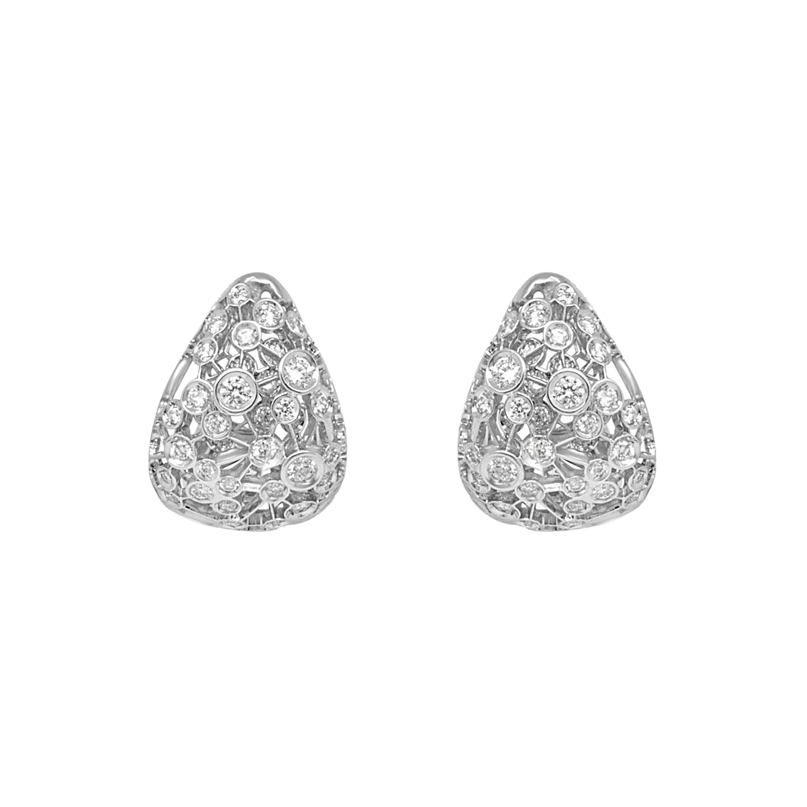 Damiani Via Lattea 18ct White Gold 1.14cttw Diamond Stud Earrings
