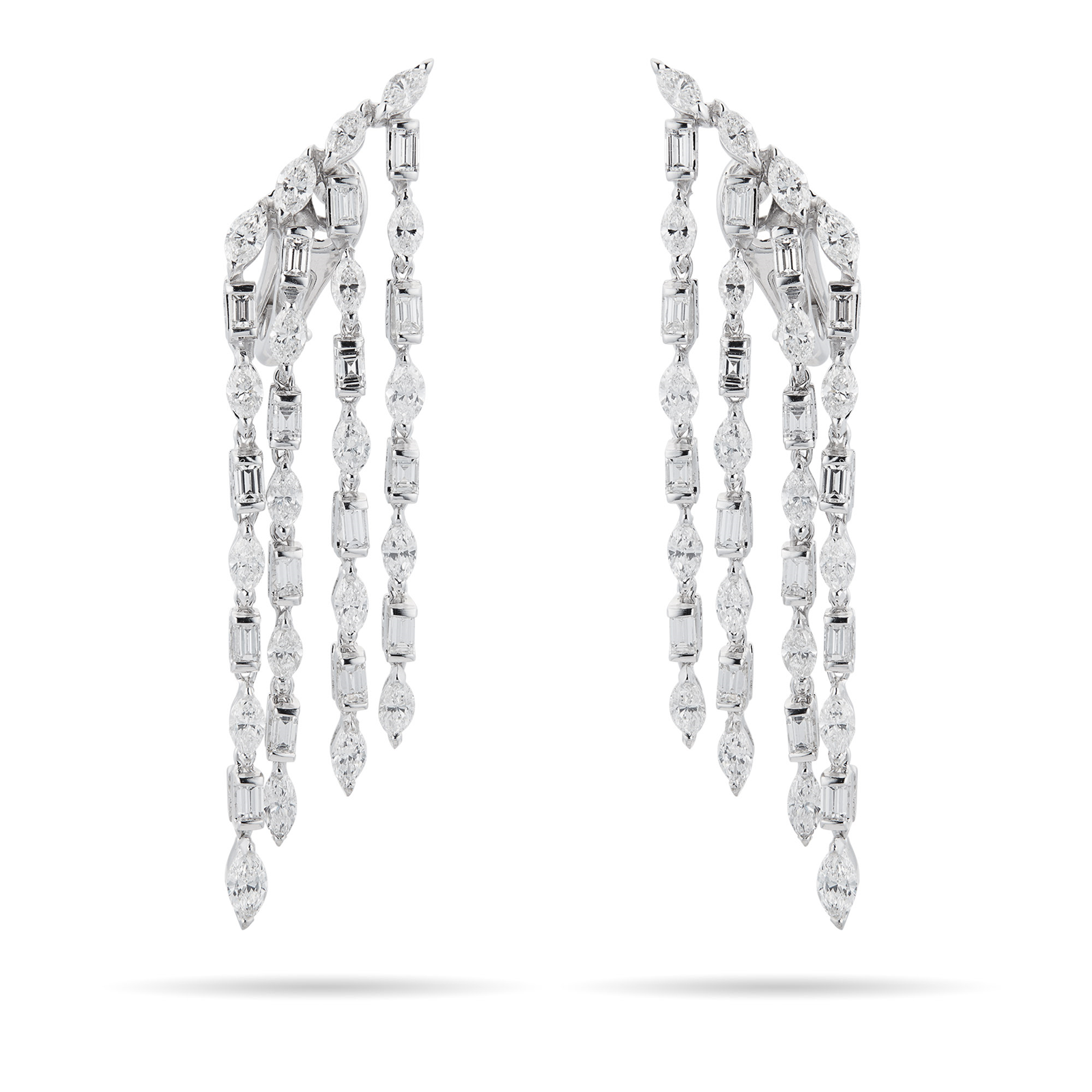 Damiani 18ct White Gold 6.52cttw Diamond Velvet Earrings