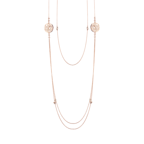 Damiani Damaianisima 18ct Rose Gold 0.08ct Diamond Necklace