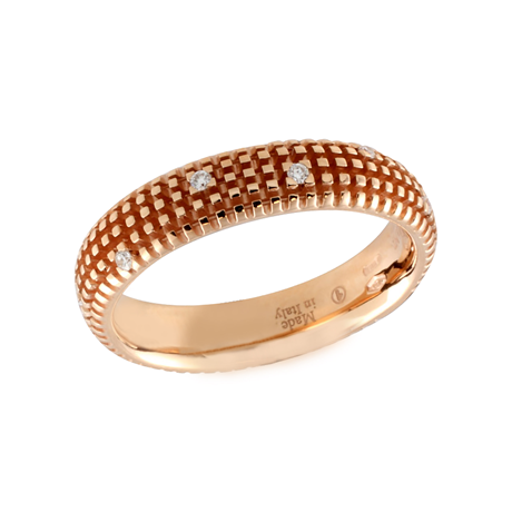 Damiani Metropolitan Dream 18ct Rose Gold 0.07cttw Diamond Ring - Ring Size M