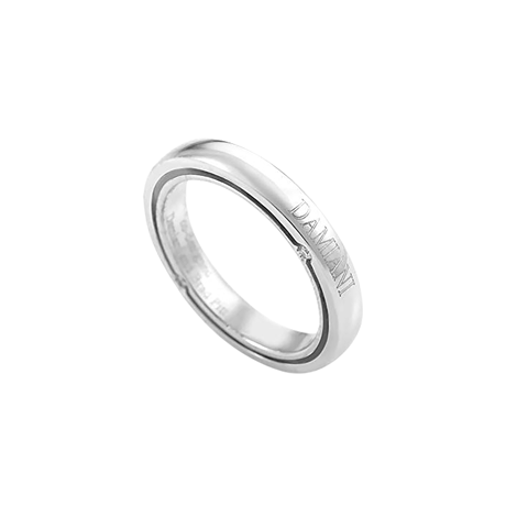 Damiani D-Side Platinum 3mm 0.20cttw Diamond Set Ring - Ring Size M.5