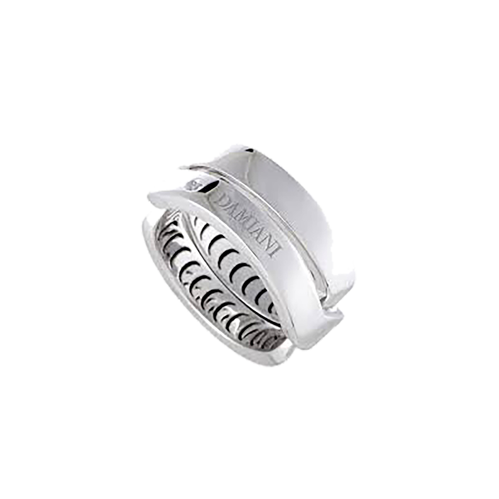 Damiani Baci 18ct White Gold 0.01ct Diamond Ring - Ring Size I