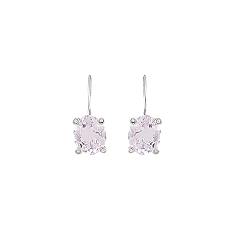 Damiani Pastelli 18ct White Gold 2.70cttw Amethyst and Diamond Drop Earrings