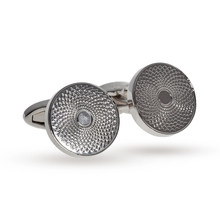 Babette Wasserman Rhodium Plated Ripple Cufflinks