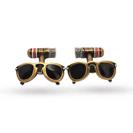 Babette Wasserman Retro Sunglasses and Cigar Cufflinks