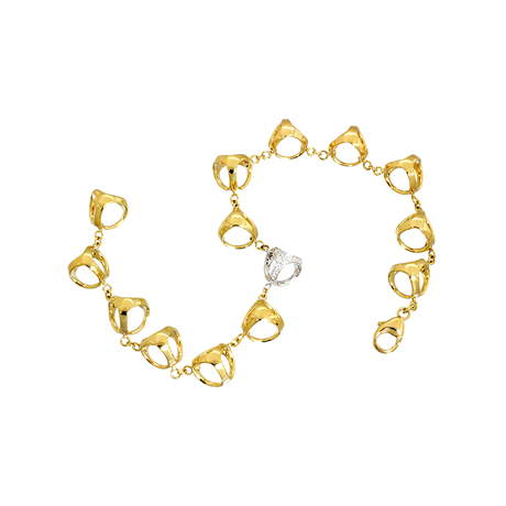 Di Modolo Icona 18ct Yellow and White Gold Diamond Bracelet