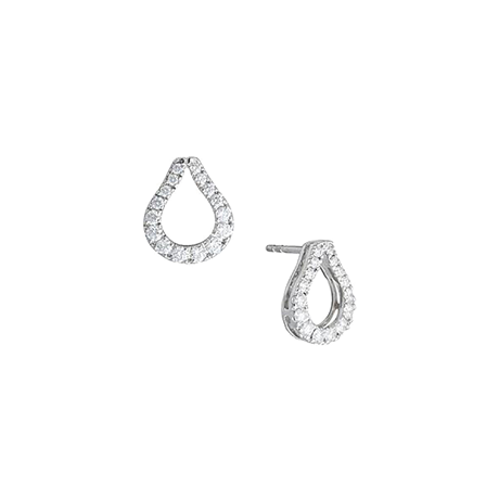 Di Modolo Fiama 18ct White Gold 0.70cttw Diamond Pave Drop Earrings