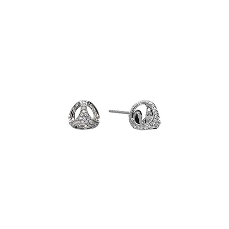 Di Modolo Icona 18ct White Gold 0.15cttw Diamond Pave Stud Earrings