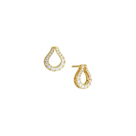 Di Modolo Fiama 18ct Yellow Gold 0.70cttw Diamond Pave Drop Earrings