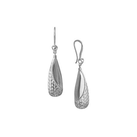 Di Modolo Ricamo Silver 0.16cttw Diamond Pave Drop Earrings
