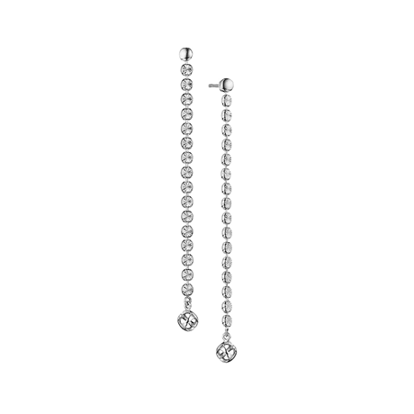 Di Modolo Icona Silver Diamond Cut Drop Earrings