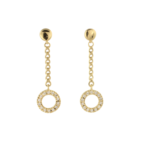 Di Modolo Eterno 18ct Yellow Gold 0.34cttw Diamond Drop Earrings
