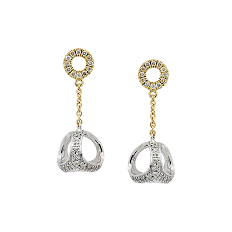 Di Modolo Eterno 18ct Yellow and White Gold 0.66cttw Diamond Drop Earrings